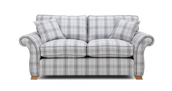 Harrow Plaid 2 Seater Formal Back Sofa