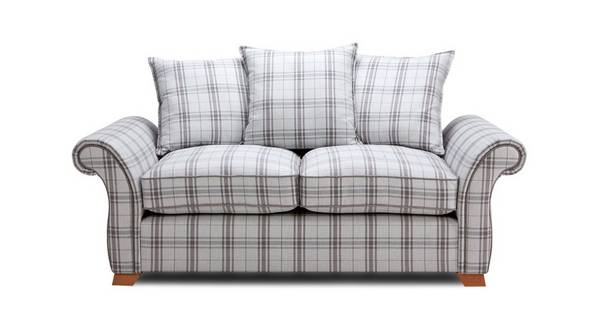Harrow Plaid 2 Seater Pillow Back Sofa