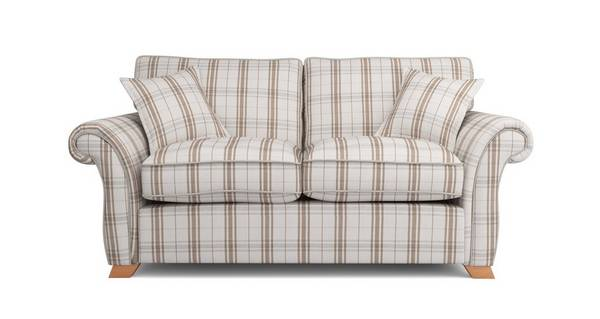 Harrow Plaid 2 Seater Formal Back Deluxe Sofa Bed