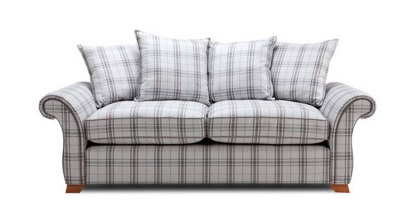Harrow Plaid 3 Seater Pillow Back Sofa