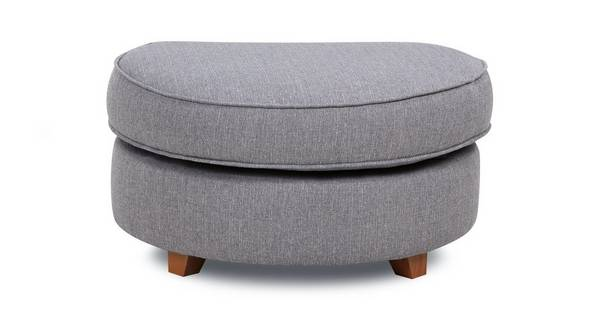 Harrow Plain Half Moon Footstool