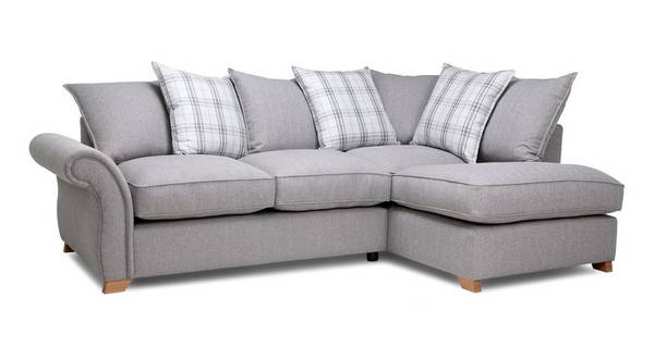 Harrow Plain Left Arm Facing Pillow Back Corner Sofa