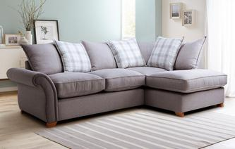 Harrow Plain Left Arm Facing Pillow Back Corner Sofa Arran