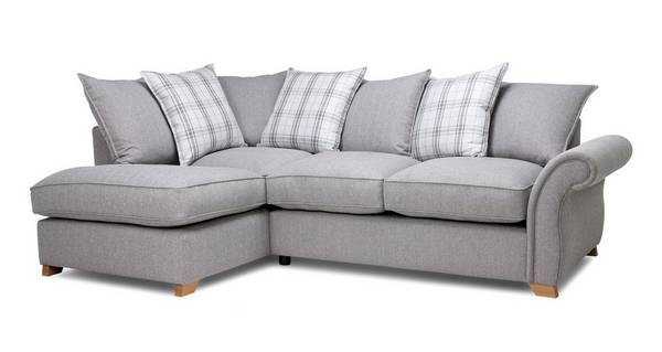 Harrow Plain Right Arm Facing Pillow Back Corner Sofa