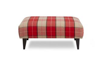 Multi Check Banquette Footstool
