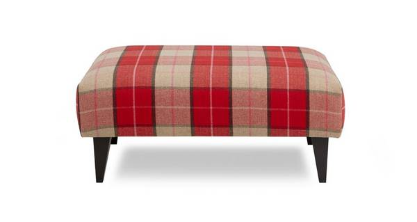 Hartley Multi Check Banquette Footstool