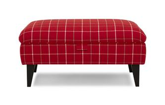 Plain Check Banquette Storage Footstool Keeper Plain Check