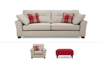 Hartley Clearance 4 Seater, Armchair, Stool & 2 x Scatters Keeper