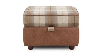 Heaton Check Top Storage Footstool
