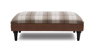 Heaton Check Top Large Footstool