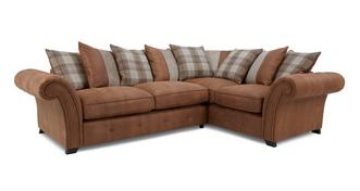 Heaton Left Hand Facing Pillow Back 3 Seater Corner Sofa