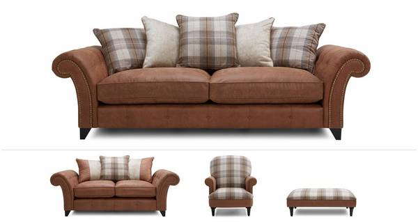 Heaton Clearance 4 Seater, 2 Seater, Accent Chair & Footstool