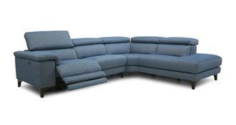 Helden Linkszijdige 2-delige hoekbank met elektrische recliner