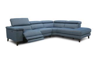 Linkszijdige 2-delige hoekbank met elektrische recliner Lisse