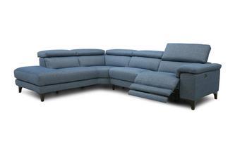 Rechtszijdige 2-delige hoekbank met elektrische recliner Lisse