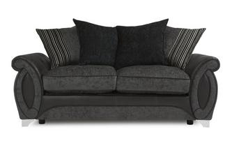 Large 2 Seater Pillow Back Deluxe Sofa Bed Helix