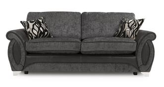 Helix 3 Seater Formal Back Deluxe Sofa Bed