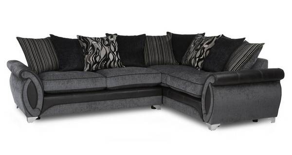 Helix Left Hand Facing 3 Seater Pillow Back Corner Sofa