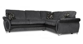 Helix Left Hand Facing 3 Seater Deluxe Formal Back Corner Sofa Bed