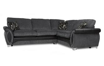 Left Hand Facing 3 Seater Deluxe Formal Back Corner Sofa Bed Helix