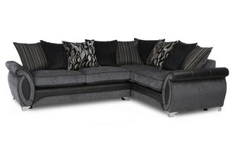 Left Hand Facing 3 Seater Pillow Back Deluxe Corner Sofa Bed Helix
