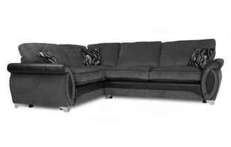 Right Hand Facing 3 Seater Formal Back Corner Sofa Helix