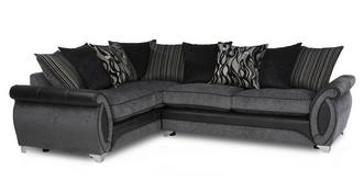 Helix Right Hand Facing 3 Seater Pillow Back Corner Sofa
