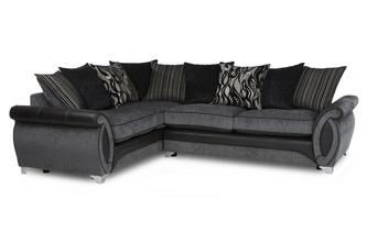 Right Hand Facing 3 Seater Pillow Back Corner Sofa Helix
