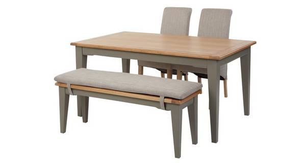 Helmsley Dining Fixed Top Table With 2 Upholstered Chairs 1 Bench Helmsley Dfs