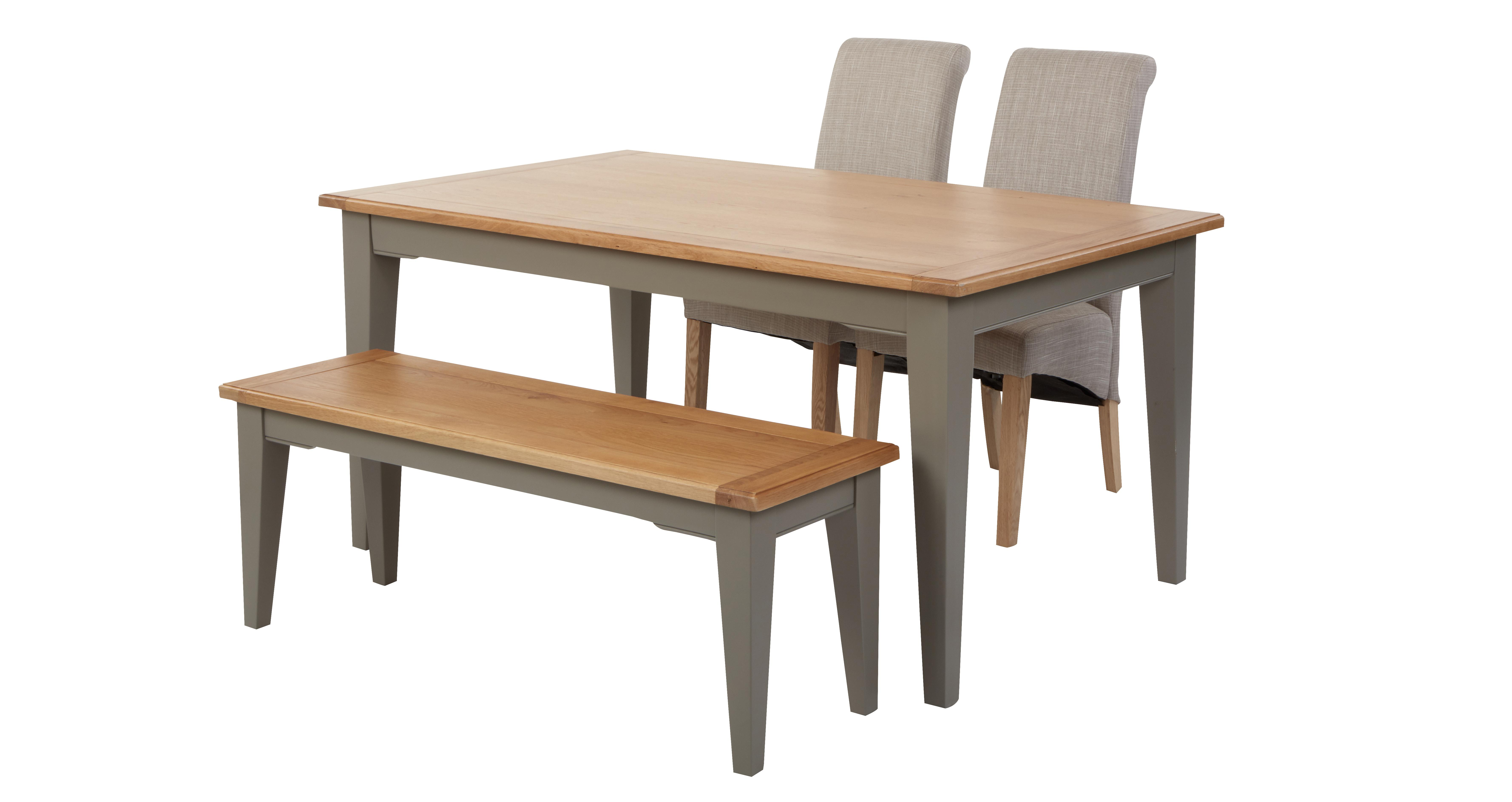 Remarkable Helmsley Dining Fixed Top Table With 2 Upholstered Chairs 1 Bench Andrewgaddart Wooden Chair Designs For Living Room Andrewgaddartcom