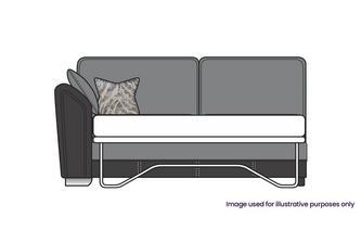 Formal Back Left Hand Facing Arm 3 Seat Supreme Sofa Bed