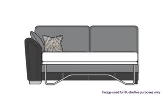 Formal Back Left Hand Facing Arm 3 Seat Deluxe Sofa Bed