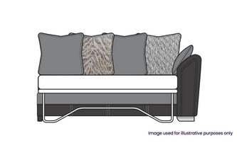Formal Back Right Hand Facing Arm 3 Seat Supreme Sofa Bed