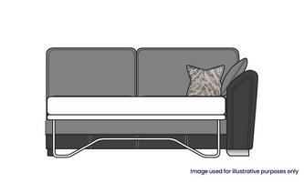 Formal Back Right Hand Facing Arm 3 Seat Deluxe Sofa Bed