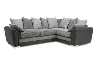 Pillow Back Left Hand Facing 3 Seater Corner Sofa