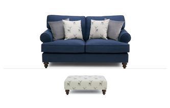 2 Seater Sofa & Stool