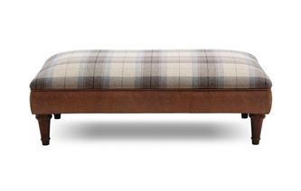 Check Top Large Footstool