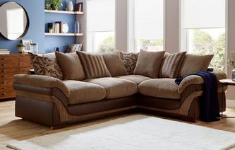 Hewitt Left Hand Facing 2 Seater Pillow Back Corner Sofa Inception