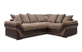 Hewitt Left Hand Facing 2 Seater Pillow Back Corner Deluxe Sofa Bed Inception