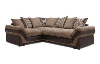 Hewitt Right Hand Facing 2 Seater Pillow Back Corner Deluxe Sofa Bed Inception