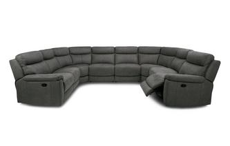 Option N Manual 8 Piece U Shaped Sofa