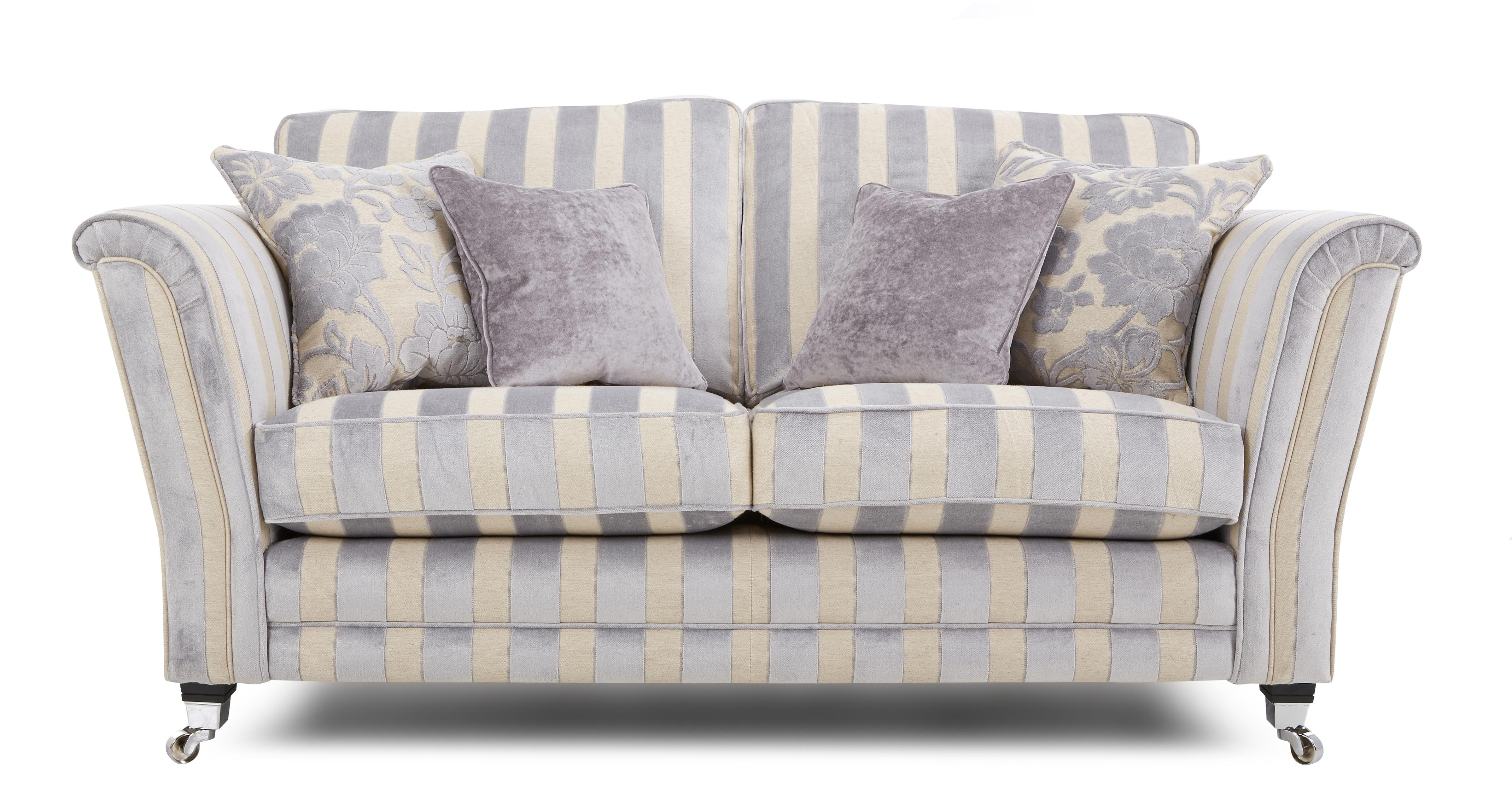 Striped Fabric Sofas Uk on Living Room With Gray Couch