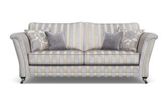 Striped 4 Seater Sofa