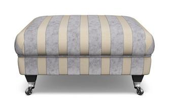 Striped Footstool Hogarth Stripe