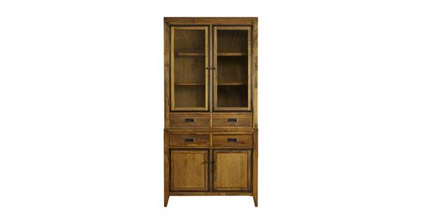 Holborn Small 2 Door Sideboard with Small Glazed Hutch