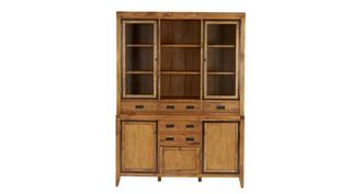 Holborn Large 3 Door Sideboard with Large Glazed Hutch