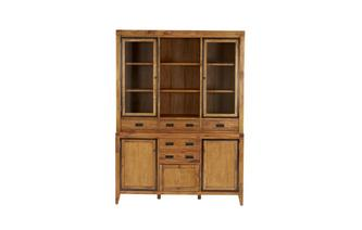Large 3 Door Sideboard with Large Glazed Hutch Holborn