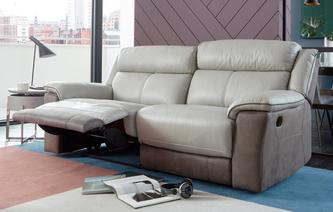 Holgate 3 Seater Manual Recliner Bacio Vellutato