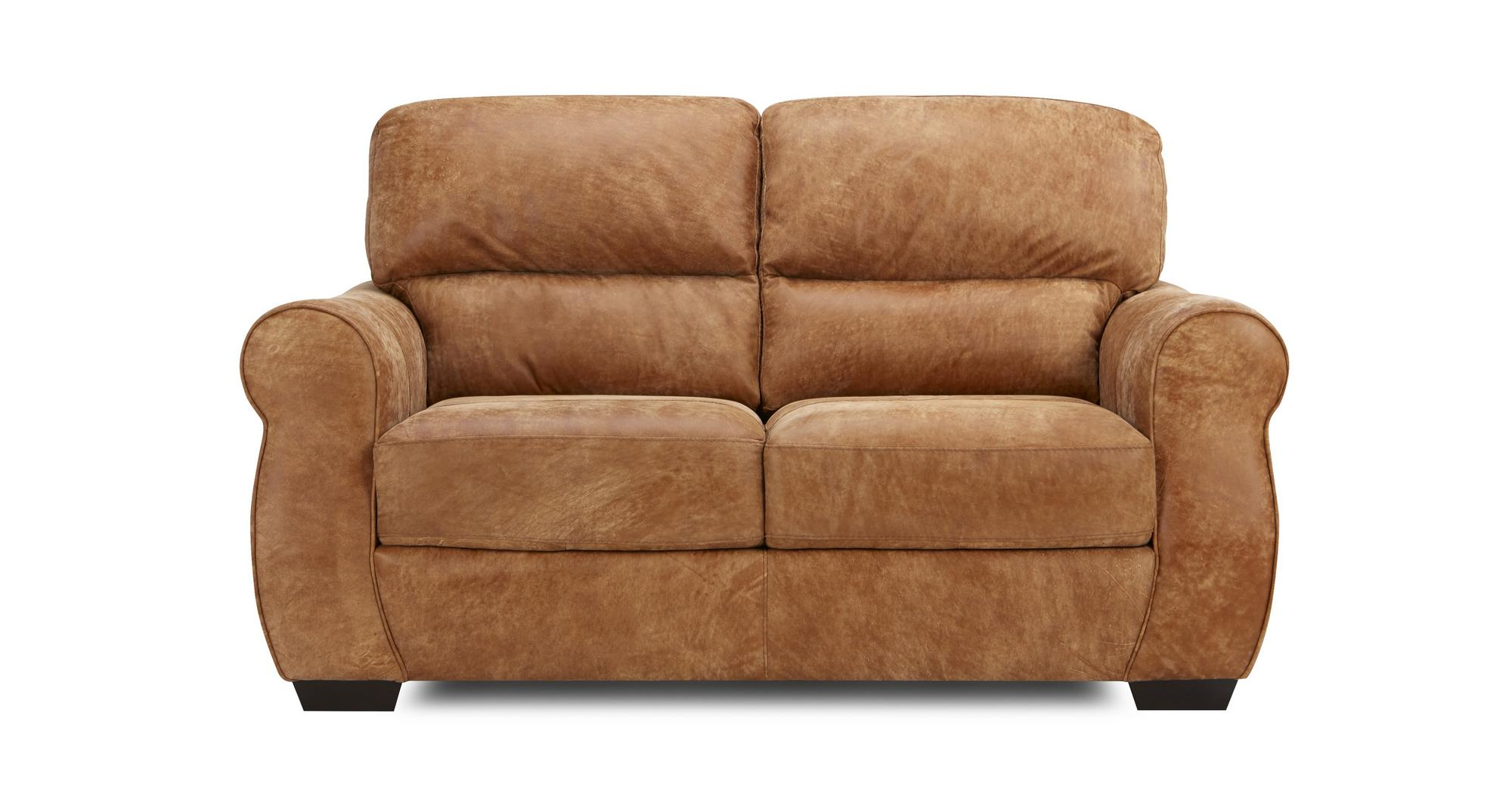 Dfs Holton Ranch Brown Leather 3 Seater 2 Seater Armchair Footstool Ebay