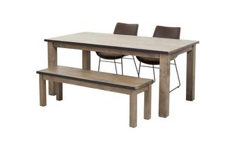 Dining Table & Set of 2 Scoop Chairs and 1 Bench Houston